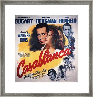 Casablanca In Color Framed Print by Nomad Art