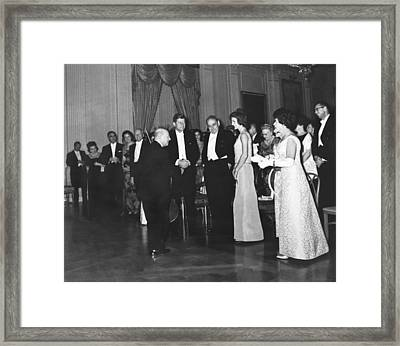 Casals White House Convert Framed Print by Underwood Archives
