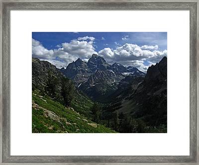 Cascade Canyon North Fork Framed Print by Raymond Salani III