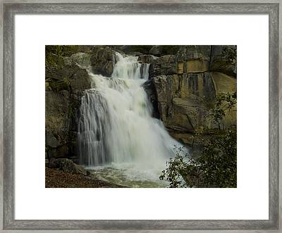 Cascade Creek Under The Bridge Framed Print by Bill Gallagher