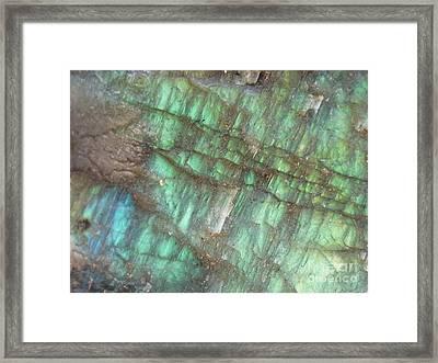 Cascade Of Green Framed Print by Agnieszka Ledwon