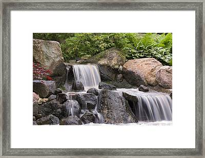 Cascade Waterfall Framed Print by Adam Romanowicz