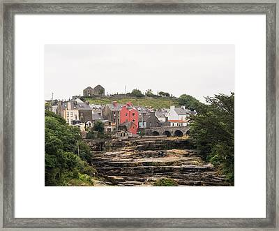 Cascades And St Andrews Ruins Framed Print by Ron St Jean