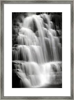 Cascading Falls Framed Print by Christina Rollo