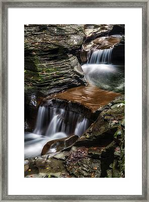 Cascading Glen Framed Print by Mark Papke
