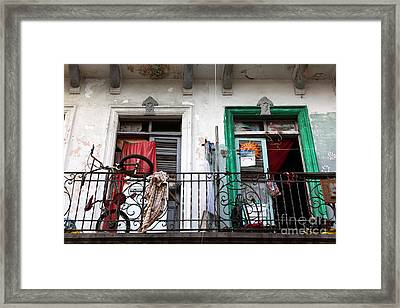 Casco Viejo Balconies Framed Print by James Brunker