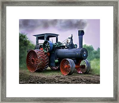 Case 110hp Steam Tractor Framed Print by F Leblanc