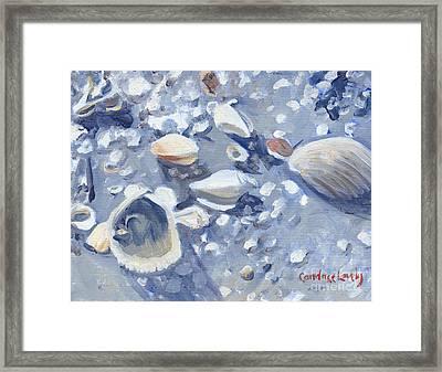 Casey Key Shells Framed Print by Candace Lovely