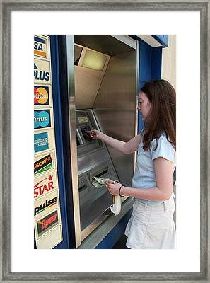 Cash Machine Use Framed Print by Jim West