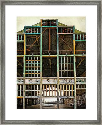 Casino In Multi-color Framed Print by Colleen Kammerer