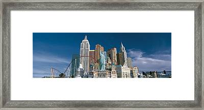 Casino Las Vegas Nv Framed Print by Panoramic Images