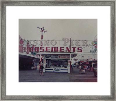 Casino Pier Amusements Seaside Heights Nj Framed Print by Joann Renner