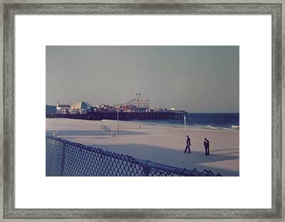 Casino Pier Seaside Heights Nj Framed Print by Joann Renner