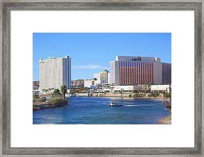Casinos Along The Colorado River Framed Print by Donna Kennedy