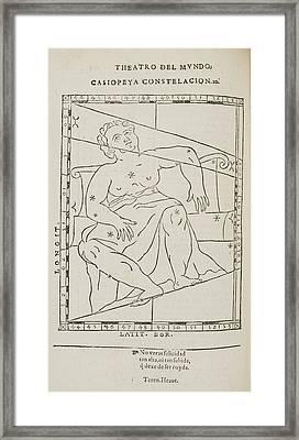 Casiopeya Star Constellation Framed Print by British Library