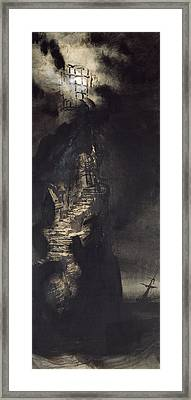 Casquets Lighthouse Framed Print by Victor Hugo