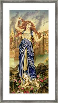 Cassandra Framed Print by Evelyn De Morgan