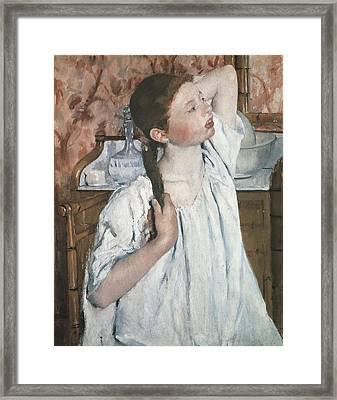 Cassatt, Mary Stevenson 1845-1926. Girl Framed Print by Everett