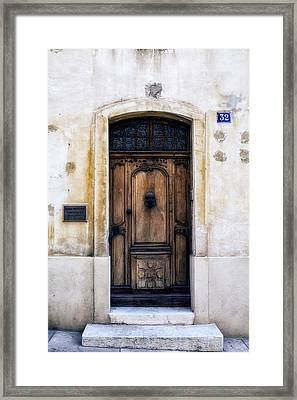 Cassis Door Number 32 Framed Print by Georgia Fowler