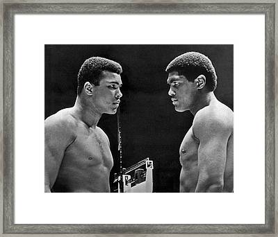 Cassius Clay Gives Whammy Eye Framed Print by Underwood Archives