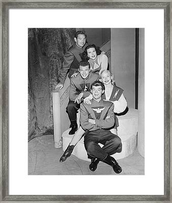 Cast Of Space Patrol Framed Print by Underwood Archives