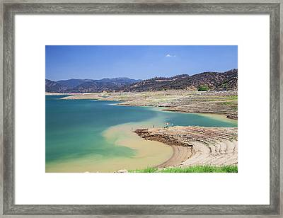 Castaic Lake, A Terminus Of The West Framed Print by Peter Bennett