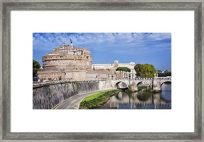 Castel Sant Angelo Framed Print by Joan Carroll