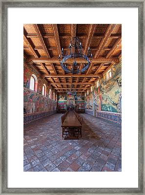 Ready For The Red Wine Wedding Castelle Di Amorosa Framed Print by Scott Campbell