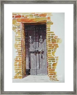 Castello Di Amorosa Framed Print by Lou Ann Overman