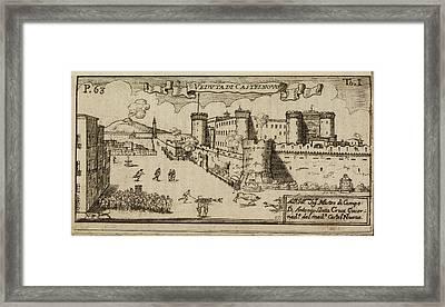 Castelnovo A Hilltop Fort Framed Print by British Library