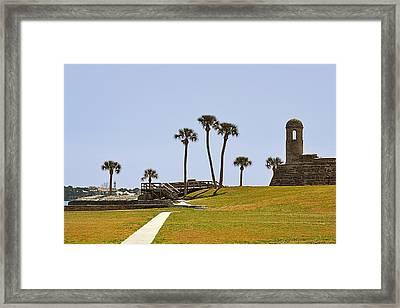 Castillo De San Marcos St Augustine Fl Framed Print by Christine Till