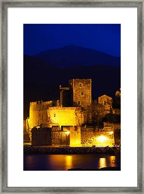 Castle At The Waterfront, Chateau Framed Print by Panoramic Images