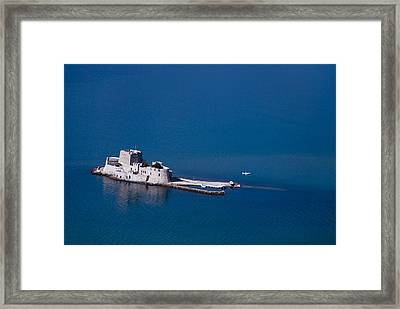 Castle Bourtzi Framed Print by David Waldo