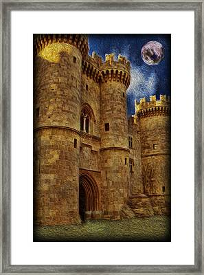 Castle By Moonlight Framed Print by Lee Dos Santos
