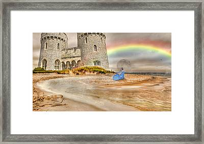 Castle By The Sea Framed Print by Betsy C Knapp