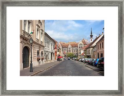 Castle District In Budapest Framed Print by Artur Bogacki