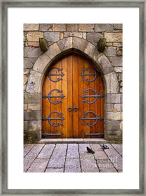 Castle Door Framed Print by Carlos Caetano
