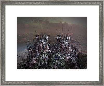 Castle Filigree Framed Print by Nafets Nuarb