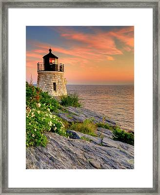 Castle Hill Lighthouse-rhode Island Framed Print by Thomas Schoeller