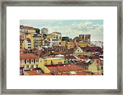 Castle Hill Neighborhood Framed Print by Carlos Caetano