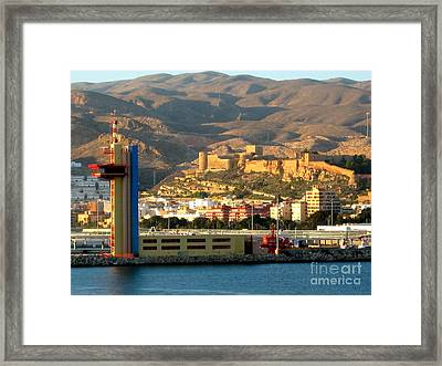 Castle In Almeria Spain Framed Print by Phyllis Kaltenbach