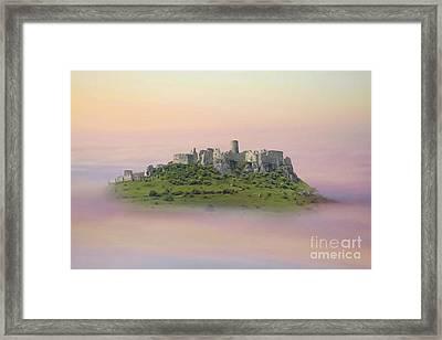 Castle In The Air. - Spis Castle Framed Print by Martin Dzurjanik
