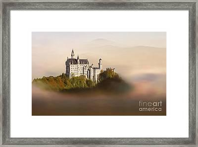 Castle In The Air Vi. - Neuschwanstein Castle Framed Print by Martin Dzurjanik
