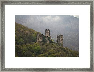 Castle In The Mountains. Framed Print by Clare Bambers