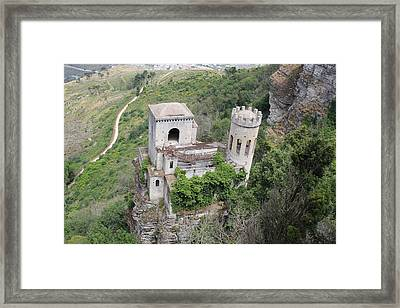 Castle In The Sky Framed Print by Christine Rivers