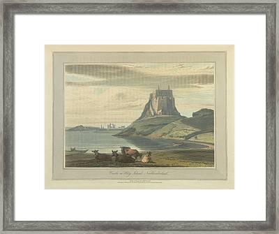 Castle On Holy Island Framed Print by British Library