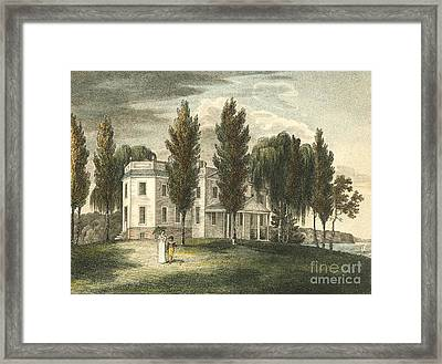 Castle Point, Hoboken, New Jersey, 1808 Framed Print by Miriam And Ira D. Wallach Division Of Art, Prints And Photographs