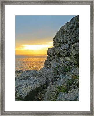 Castle Rock Framed Print by Anne Sterling