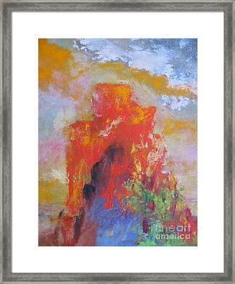 Castle Rock Framed Print by Myra Maslowsky