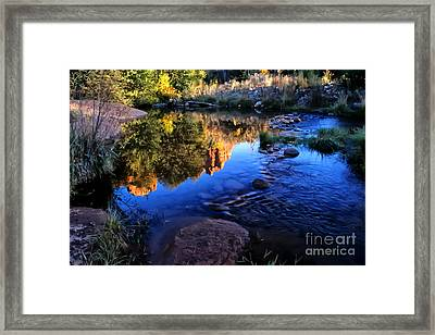 Castle Rock Reflection Framed Print by Barbara D Richards